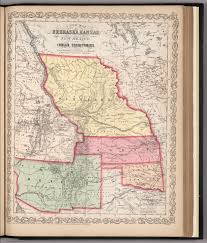 New Mexico Map With Cities And Towns by A New Map Of Nebraska Kansas New Mexico And Indian Territories