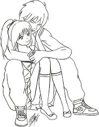 gallery sketches of anime couples hugging drawing art gallery