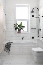des salles de bain black and white bathroom tiling mad