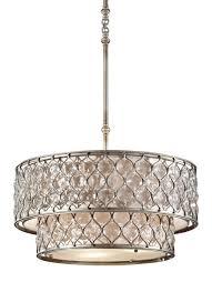 f2707 6bus 6 light chandelier burnished silver