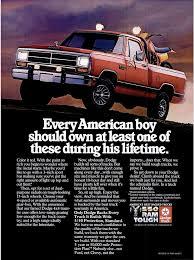 Vintage Ford Truck Ads - red ram truck 1985 vintage ads
