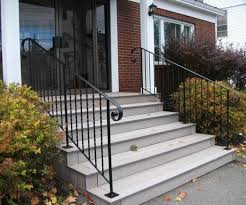 contemporary wooden outdoor stairs plus red brick exterior wall 4