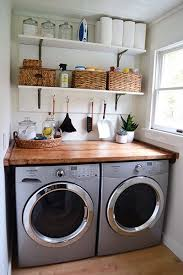 Laundry Room In Kitchen Ideas Laundry Room Makeover Wood Counters Walmart Tin Totes Pull Out