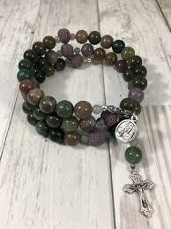 rosary bead bracelet rosary bracelet fancy jasper