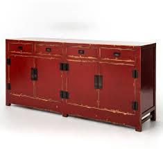 zhang tai 4 door and 4 drawer red buffet sideboard zin home