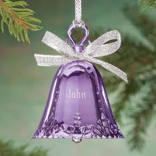 birthstone ornaments personalized birthstone bell ornament kimball