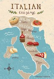 illustration cuisine food map of italy italy cuisine and italia