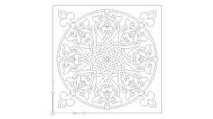 islamic pattern cad drawing arabesque spain islamic art block in decorative elements autocad
