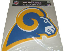 fan foam 3d wall sign los angeles rams throwback 3d fan foam logo sign