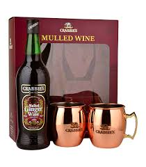wine gift sets crabbies mulled wine gift set 70cl 2 copper mugs drinks