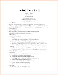 Resume For Child Care Job by It Job Resume Best Free Resume Collection