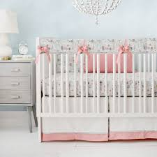 coral and gray crib bedding rail cover set baby bedding