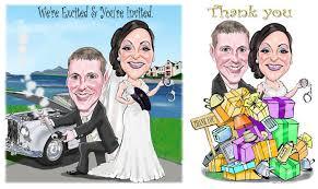 wedding caricature invites niall o loughlin caricature artist