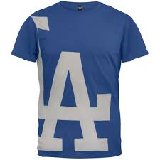 los angeles dodgers overgrown logo soft t shirt la times store