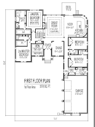 one house blueprints charming one floor 4 bedroom house blueprints intended for bedroom