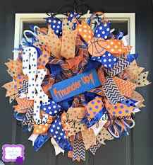 Okc Thunder Home Decor Okc Thunder Deco Mesh Wreath
