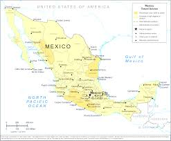 Map Of Oaxaca Mexico Rail Transport In Mexico Pleasing Map Of Mexico Resort Cities