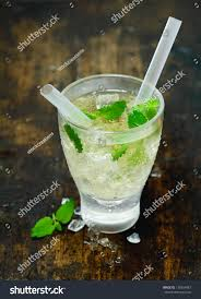mojito cocktail vodka high angle view refreshing chilled vodka stock photo 135854087