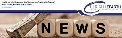 Steuerberatung Ulrich Lefarth | Aktuelles - header_news