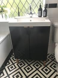 Kallax Bathroom Vanity For Small Bathroom Ikea Hackers by Diy Ikea Hack Bathroom Sink Cupboard Lillangen Wash Basin Black