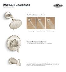 Two Handle Shower Faucet Brushed Nickel Kohler Georgeson Single Handle 3 Spray Tub And Shower Faucet In