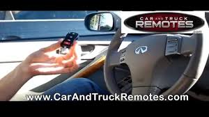 infiniti fx35 replacement remote programming 2004 2007 youtube