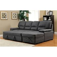 Modern Convertible Furniture by Furniture Of America Clair Modern Convertible Sectional In