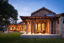 Luxury Log Home Plans Modern Rustic Barn Style Retreat In Texas Hill Country