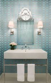 Wallpaper Powder Powder Room Decorating Ideas With Pale Blue Metallic Wallpaper