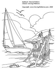 Wood Burning Patterns For Beginners Free by Sailboat Relief Wood Carving Project For Beginners By L S Irish
