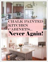 How To Distress White Kitchen Cabinets Chalk Painted Kitchen Cabinets Never Again White Lace Cottage