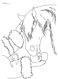 christmas horse coloring pages coloring page for kids