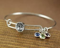 bracelets with birthstones tree of birthstone bangle bracelet at sweet blossom gifts