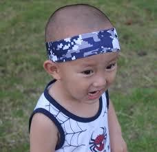 white and blue headband outdoor sports navy blue white digital camo headband