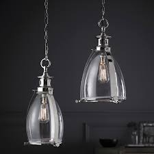 Chrome Pendant Lighting Storni Small Clear Glass And Chrome Ceiling Pendant Light Eh Storni S