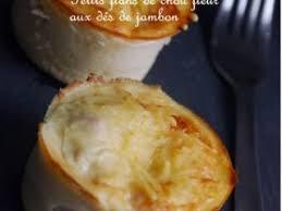 cuisine hollandaise recette petits flans de chou fleur aux dés de jambon et sauce hollandaise