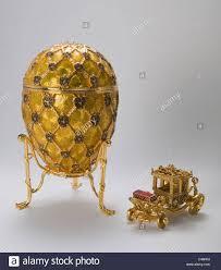 Diamond Trellis Egg Reproduction Of Faberge Coronation Egg Replica Stock Photo