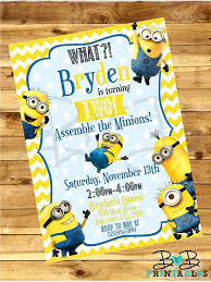 diy minion invitations ideas minion birthday party invitations for image source 15 minion