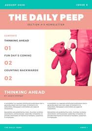 pink brown simple preschool newsletter templates by canva