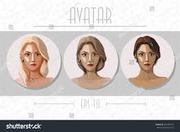 what type of hair can be used for crotchet braids three round avatars young women various stock vector 334784723