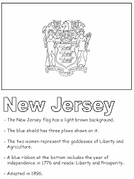 united states symbols coloring pages new jersey state flag