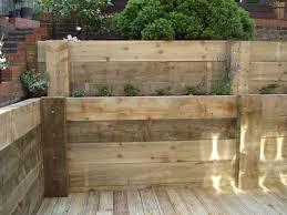 timber sleeper retaining wall design prodigious waterside s