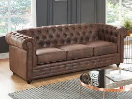 canapé chesterfield cuir vieilli canapé et fauteuil microfibre vieilli vintage chesterfield