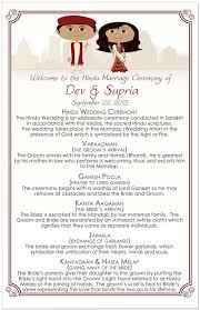 wedding ceremony programs wording 28 images of indian wedding program template infovia hindu wedding