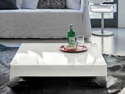 Living Room High Gloss White Coffee Table Modern White Side Table