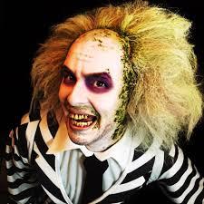 Guys Halloween Makeup by Beetlejuice Makeup Cosplay Tutorial Youtube