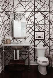 designer bathroom wallpaper staggering modern black and white bathroom wallpaper corner sink