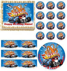 hot wheels cake toppers hot wheels race car party edible cake topper frosting sheet image