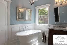 bathroom chair rail ideas picturesque bathroom jacksonville crown molding window trim