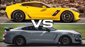 mustang stingray 2014 2015 chevrolet corvette z06 vs 2016 shelby mustang gt350r